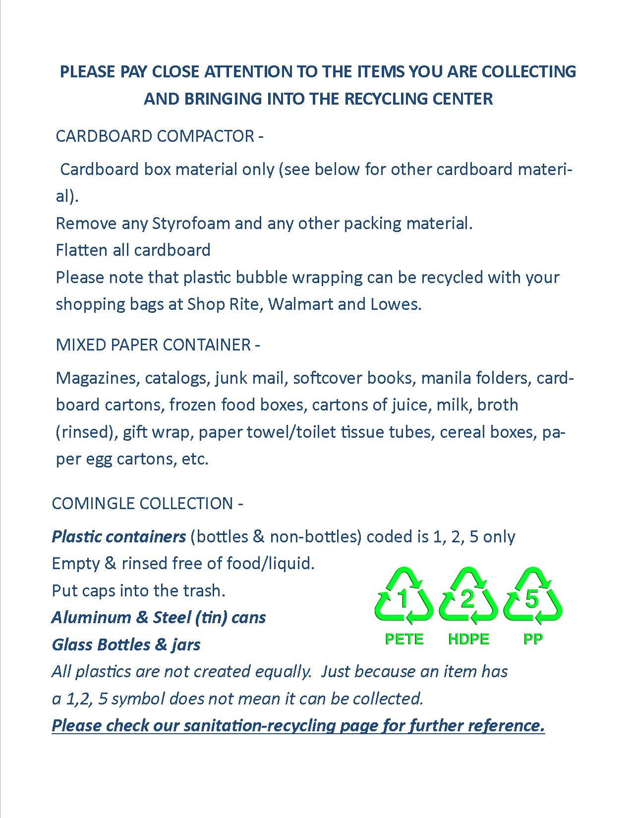 2019 FB recycling center container collection