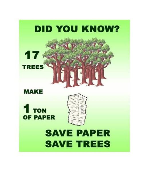 save paper and trees image