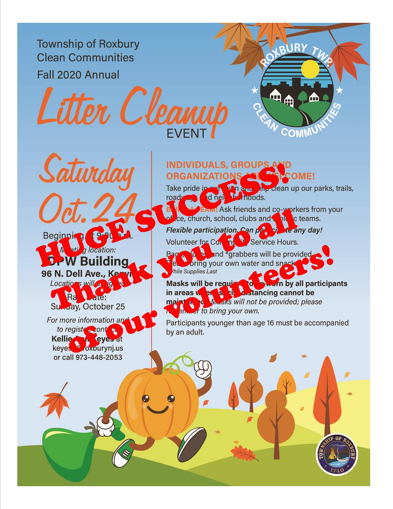 2020 fall cleanup flyer success