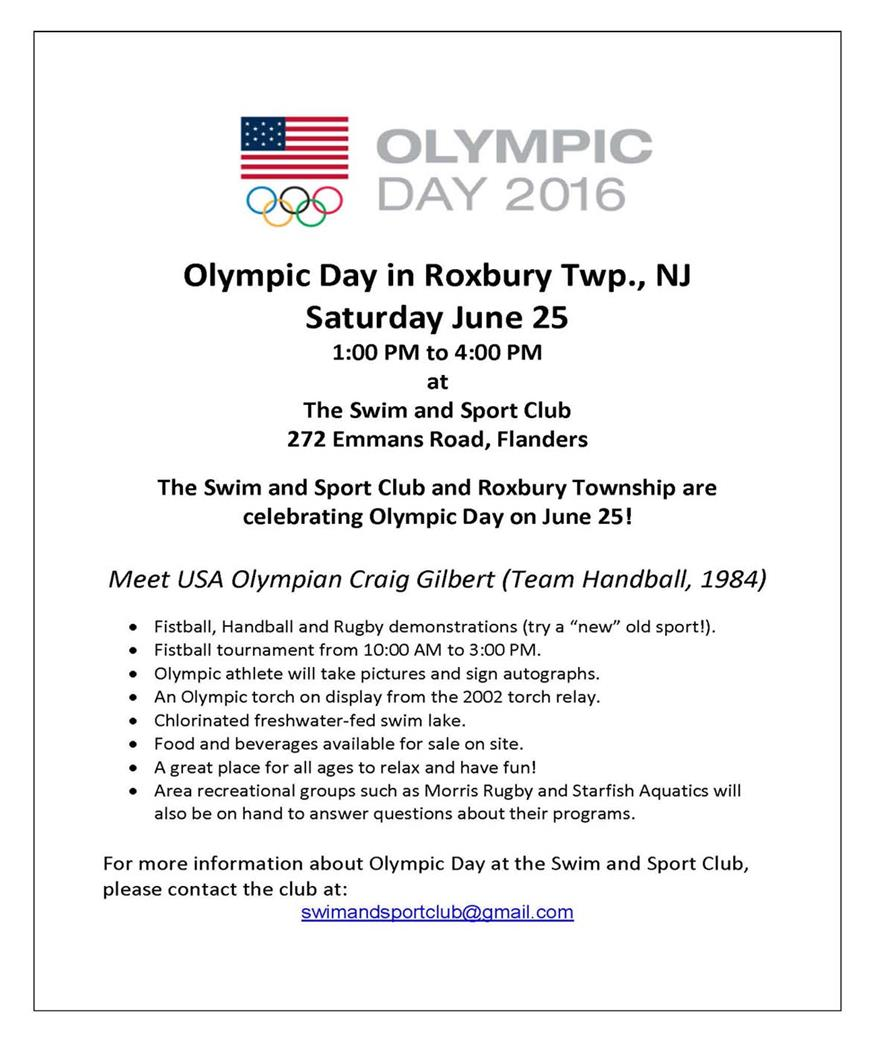 Olympic Day Flyer